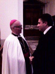 Nella foto accanto l'Abate Generale Dr. Bruno Platter OT, 65° Gran Maestro dell'Ordine Teutonico e Antonino Sala