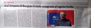 Articolo del Giornale di Sicilia 2018 premio